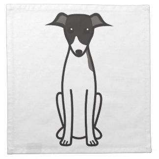 Italian Greyhound Dog Cartoon Napkin