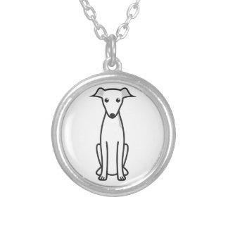 Italian Greyhound Dog Cartoon Pendants