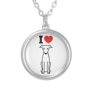 Italian Greyhound Dog Cartoon Custom Necklace