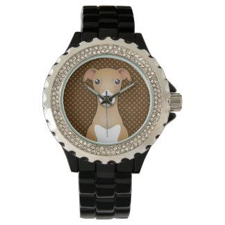 Italian Greyhound Dog Cartoon Paws Watch