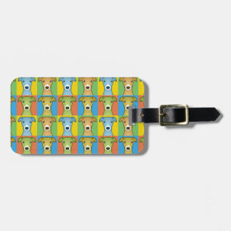 Italian Greyhound Dog Cartoon Pop-Art Luggage Tag