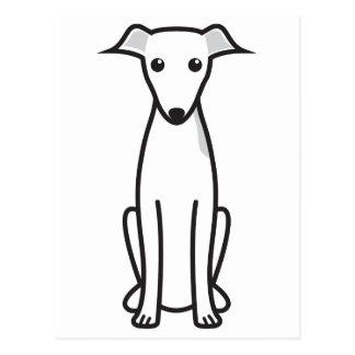 Italian Greyhound Dog Cartoon Postcard