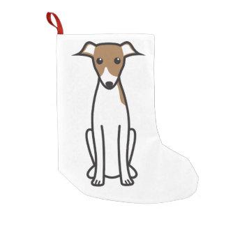 Italian Greyhound Dog Cartoon Small Christmas Stocking