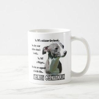 Italian Greyhound FAQ Basic White Mug