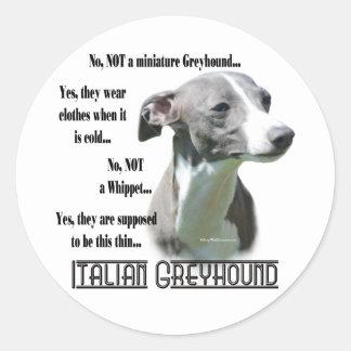 Italian Greyhound FAQ Sticker