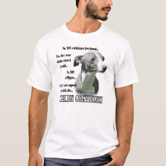 Italian Greyhound FAQ T-shirt