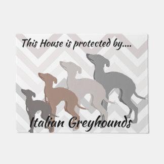 Italian Greyhound Front doormat Mat Rescue Decor
