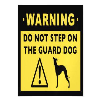 Italian Greyhound Funny Guard Dog Warning Magnetic Card