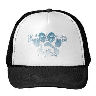 Italian Greyhound Grandchildren Trucker Hats