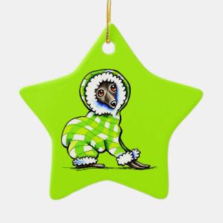 Italian Greyhound Happy Plaid Snowsuit Winter Christmas Ornament