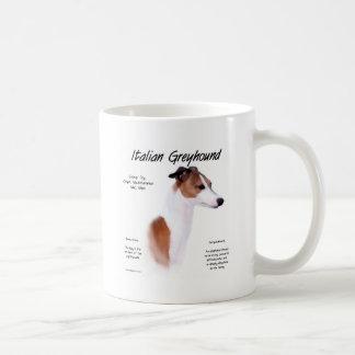 Italian Greyhound History Design Basic White Mug