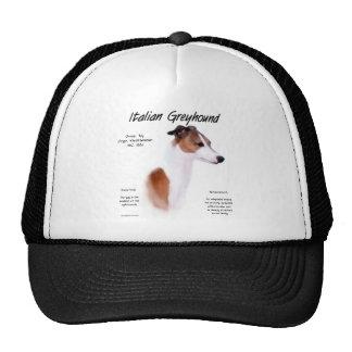 Italian Greyhound History Design Cap