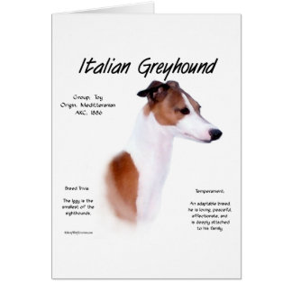 Italian Greyhound History Design Greeting Cards