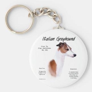 Italian Greyhound History Design Basic Round Button Key Ring