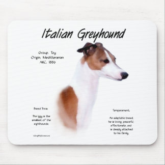 Italian Greyhound History Design Mouse Pad