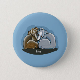 Italian Greyhound Huddle 6 Cm Round Badge