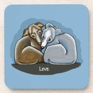 Italian Greyhound Huddle Coaster