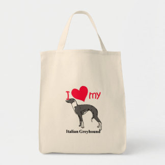 Italian Greyhound (Iggy) Tote Bags