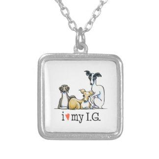 Italian Greyhound Lover Necklace