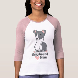 Italian Greyhound Mom Women's Raglan T-Shirt