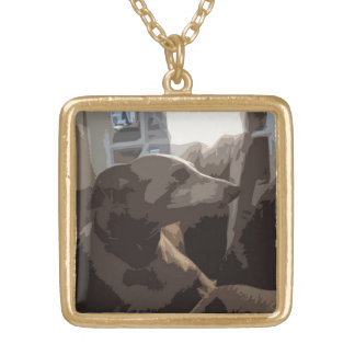 Italian greyhound necklace