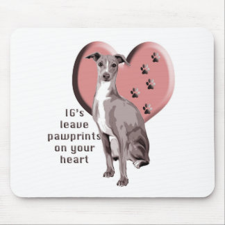 italian greyhound paws mouse pad