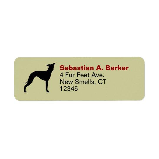 Italian Greyhound Return Address Label