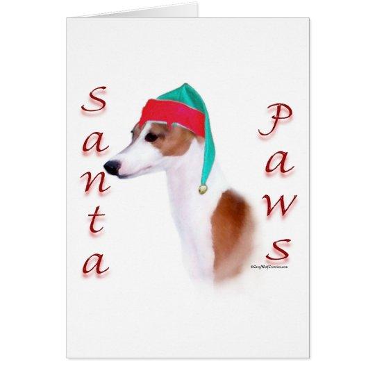 Italian Greyhound Santa Paws Christmas Card