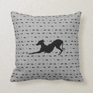 Italian Greyhound Throw Pillow with Laying Iggy