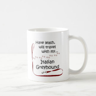 Italian Greyhound Travel Leash Basic White Mug