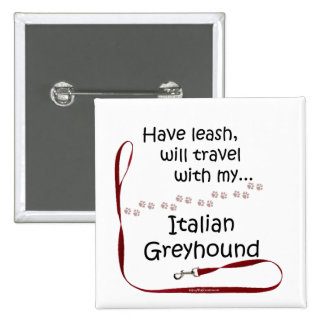 Italian Greyhound Travel Leash - Button