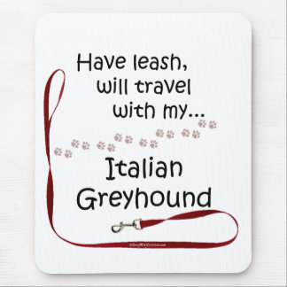 Italian Greyhound Travel Leash Mouse Pad