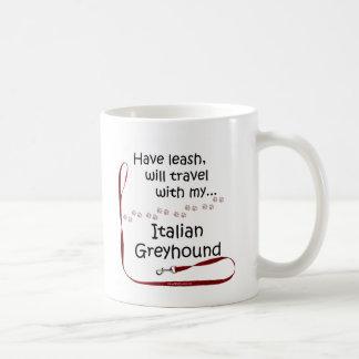 Italian Greyhound Travel Leash Coffee Mugs