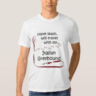 Italian Greyhound Travel Leash Shirts