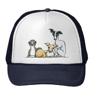 Italian Greyhound Trio Trucker Hats