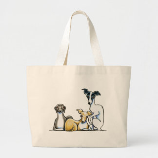 Italian Greyhound Trio Large Tote Bag