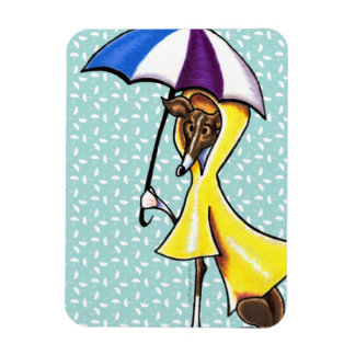 Italian Greyhound Umbrella Crazy Magnet