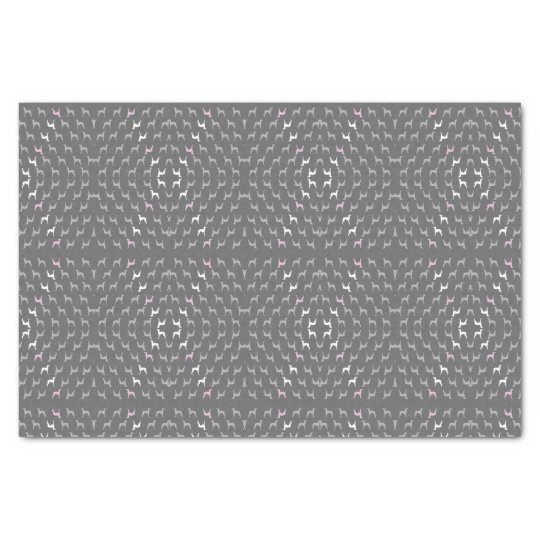Italian Greyhound wrapping tissue paper