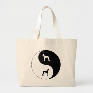 Italian Greyhound Yin Yang Large Tote Bag