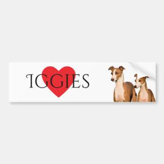 Italian Greyhounds Bumper Sticker