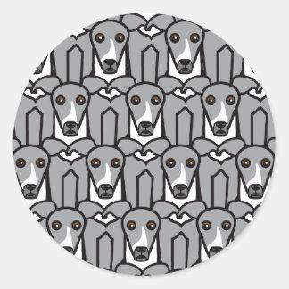 Italian Greyhounds Classic Round Sticker