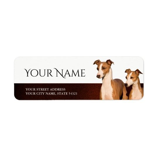 Italian Greyhounds Return Address Label