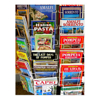 Italian Guidebooks Postcard