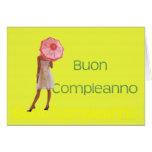 Italian Happy Birthday Greeting Card