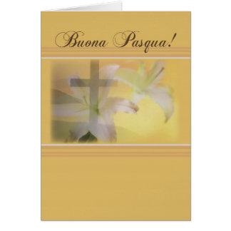 Italian Happy Easter, Yellow Buona Pasqua Greeting Card