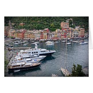 Italian Harbor Village - Portofino, Italia Greeting Card