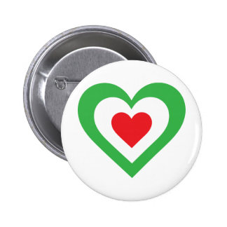 Italian Heart 6 Cm Round Badge