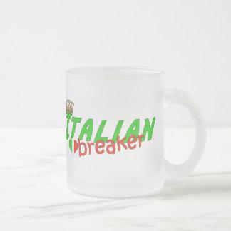 Italian Heart Breaker With Crown Coffee Mugs