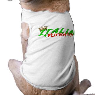 Italian Heart Breaker With Crown Sleeveless Dog Shirt