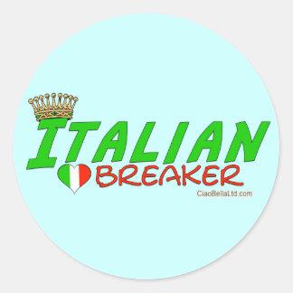 Italian Heartbreaker Round Sticker